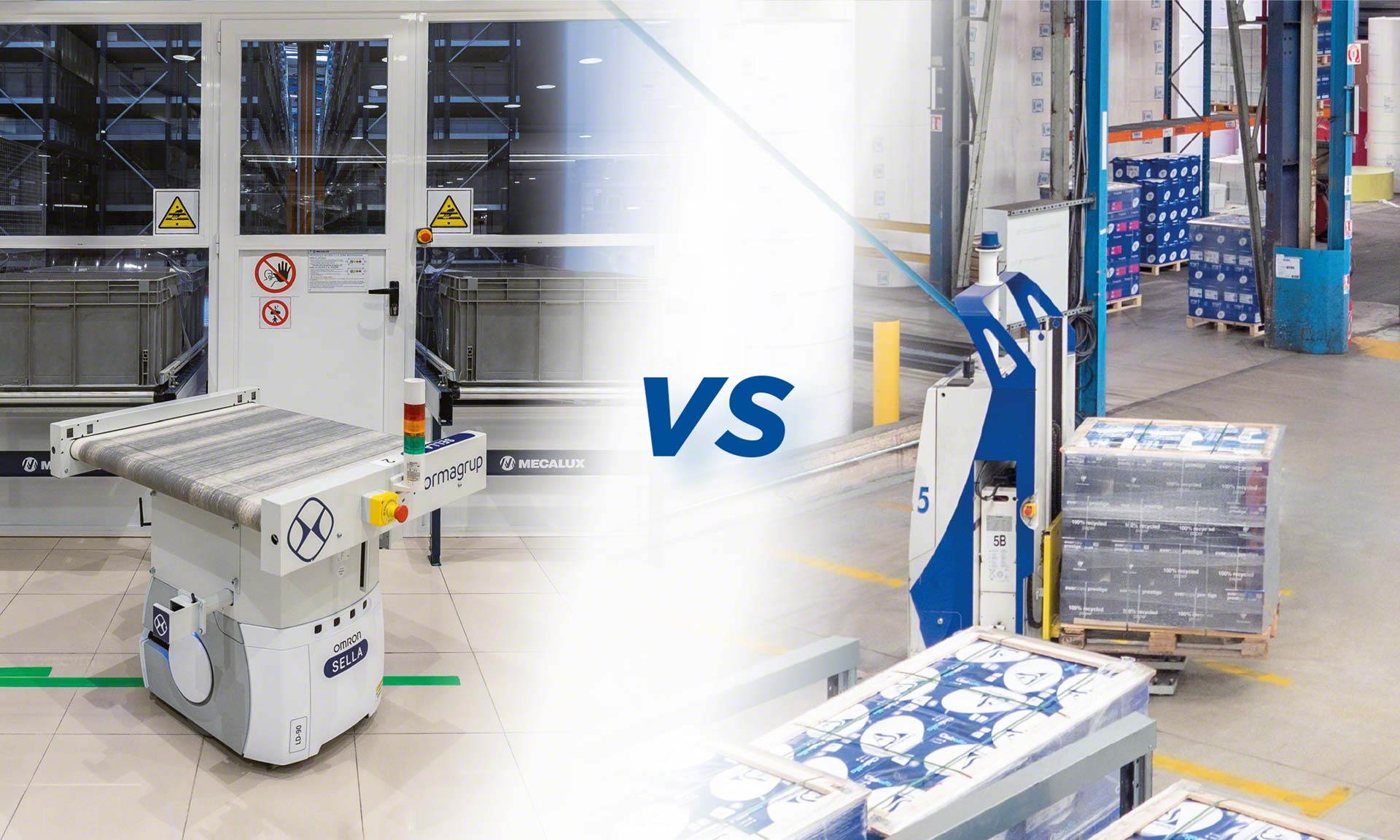 Tanto los AGV como los AMR se han convertido en eficientes sistemas de transporte automático de mercadería