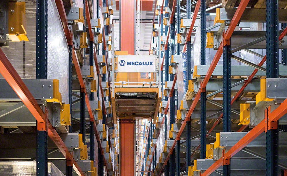 Almacén robotizado del fabricante de papel francés Clairefontaine