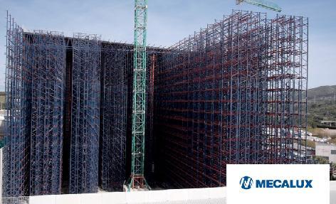Proceso constructivo del almacén autoportante automático de Cepsa en Algeciras, Cádiz