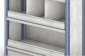 Estanterías cargas ligeras para picking M3, accesorios: retenedores