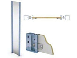 Estanterías cargas ligeras para picking M3, Componentes: Laterales madera melaminada