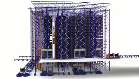 Innovación y tecnología al servicio de la logística de Michelin en su almacén automatizado de Vitoria