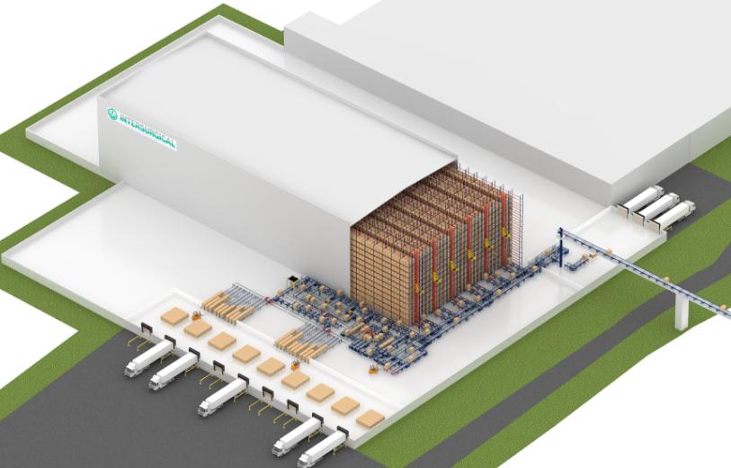 El almacén automático autoportante de Intersurgical en Lituania