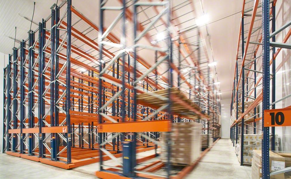 Estanterías Movirack en el nuevo almacén de F.lli Sabbini