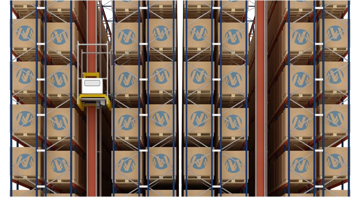 Almacén automático de palets y de cajas de Miguélez en España