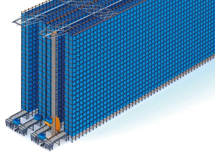Almacén automático de cajas y estanterías para palets de FIC