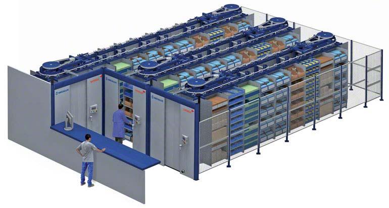 Carrusel horizontal automático Spinblock.